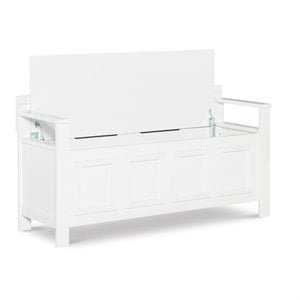 Riverbay Furniture Storage Bench in White