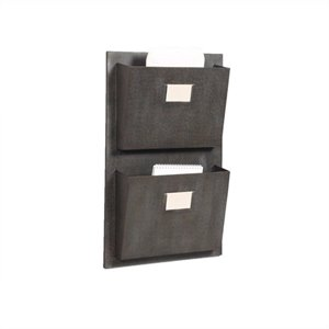 Riverbay Furniture 2 Slot Wall Mounted Mailbox in Rustic Gray