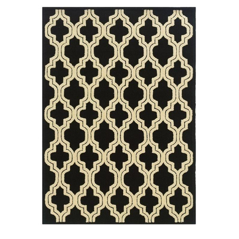 Riverbay Furniture 5' x 7' Hand Tufted Rug in Black