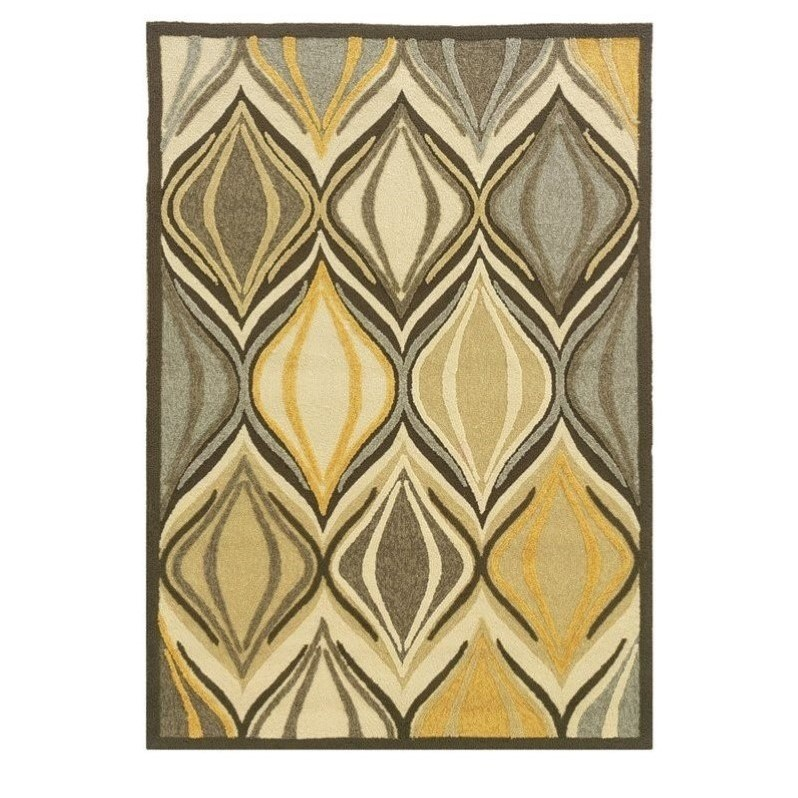 Riverbay Furniture 5' x 7' Hand Tufted Rug in Beige