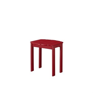 Riverbay Furniture Adirondack Table in Red