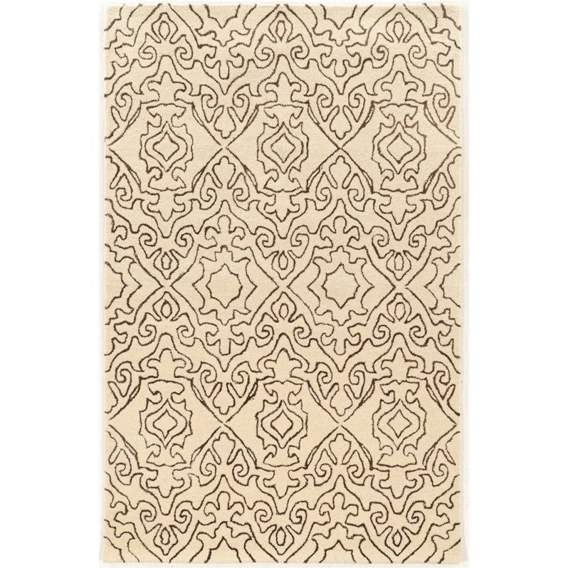 Riverbay Furniture 8' x 11' Hand Tufted Rug in Ivory and Charcoal
