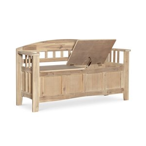 Riverbay Furniture Storage Bench in Natural Washed