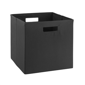 Riverbay Furniture Two Pack Fabric Storage Bin in Black