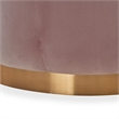 Adore Decor Adele Tufted Ottoman Pink