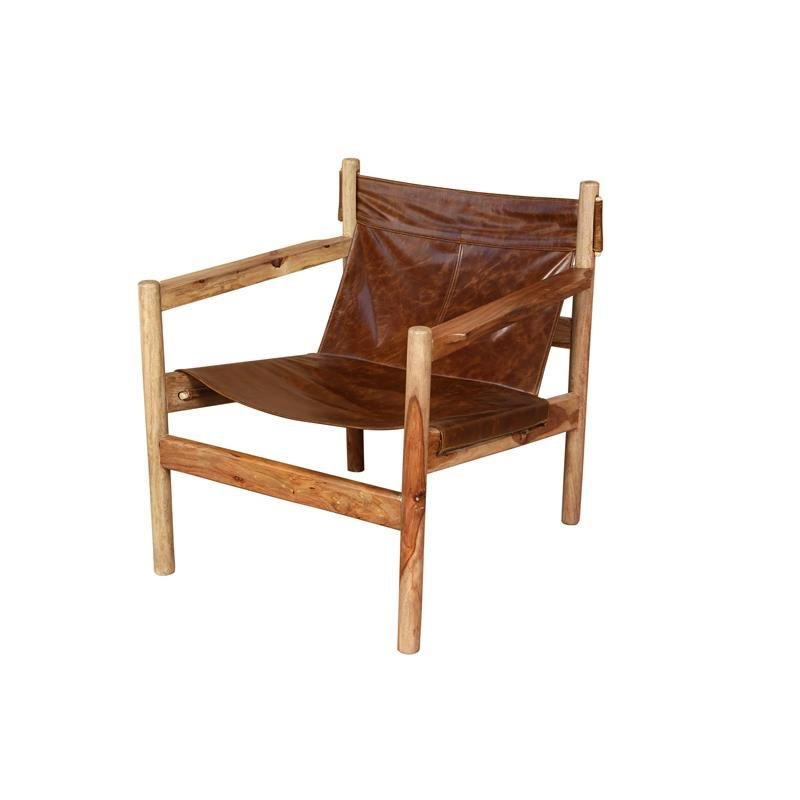 Superb Genoa Leather Sling Accent Chair Cognac Brown Ibusinesslaw Wood Chair Design Ideas Ibusinesslaworg