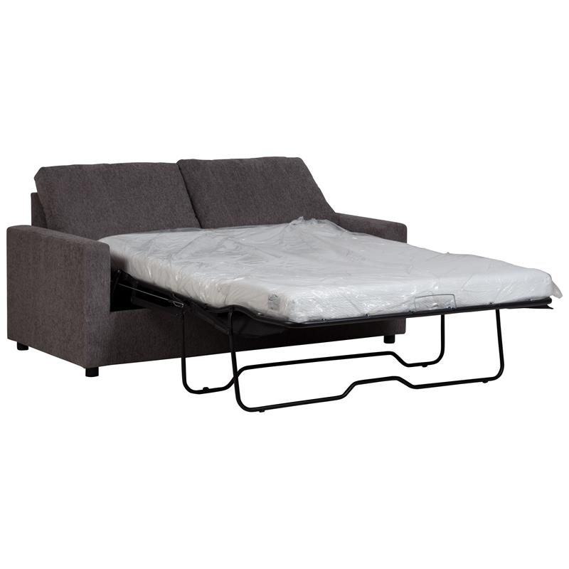 Memory Foam Sleeper Sofa Twin Gray