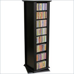 Venture Horizon Revolving 2-Sided CD DVD Media Spinning Tower - Black