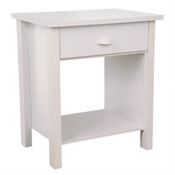 Venture Horizon Nouvelle Night Stand in White