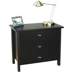 Venture Horizon Nouvelle 3 Drawer Chest in Black
