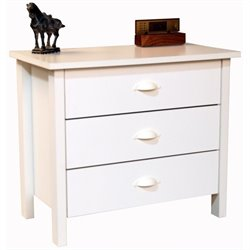 Venture Horizon Nouvelle 3 Drawer Chest in White Finish
