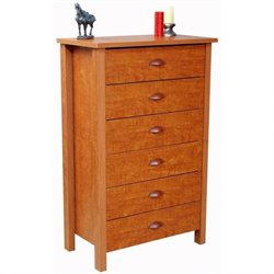 Venture Horizon Nouvelle 6 Drawer Chest in Cherry Finish