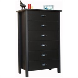 Venture Horizon Nouvelle 6 Drawer Chest in Black Finish