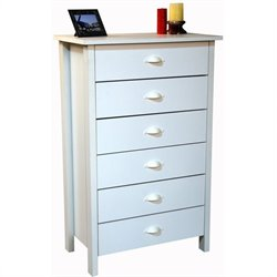 Venture Horizon Nouvelle 6 Drawer Chest in White Finish