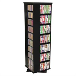 Venture Horizon CD/DVD Spinning Tower in Multiple Finishes - Black