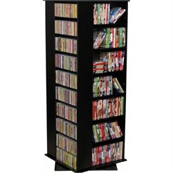 Venture Horizon Large CD/DVD Revolving Media Tower - Black
