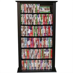 Venture Horizon Single 50-Inch CD DVD Wall Rack Media Storage - Black