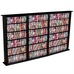 Venture Horizon Triple 50-Inch CD DVD Wall Rack Media Storage - White