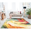 Queen 5x7   Modern Abstract Area Rug   2789 in Yellow