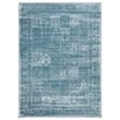 Regal 5x7  Vintage Oriental Medallion Area Rug  1175 in  Blue   Bone