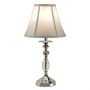 Allora Crystal Table Lamp in Polished Nickel
