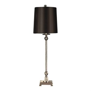 Allora Crystal Buffet Lamp in Polished Chrome