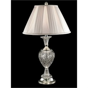Allora Metal Table Lamp in Polished Nickel