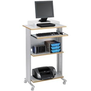 Safco MÜV Standing Wood Workstation in Gray