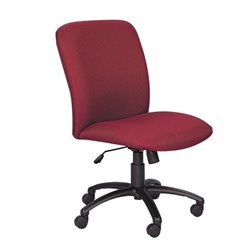 Safco Uber Big and Tall High Back Task Chair in Burgundy