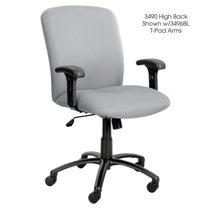 Safco Uber Big and Tall High Back Task Office Chair in Gray