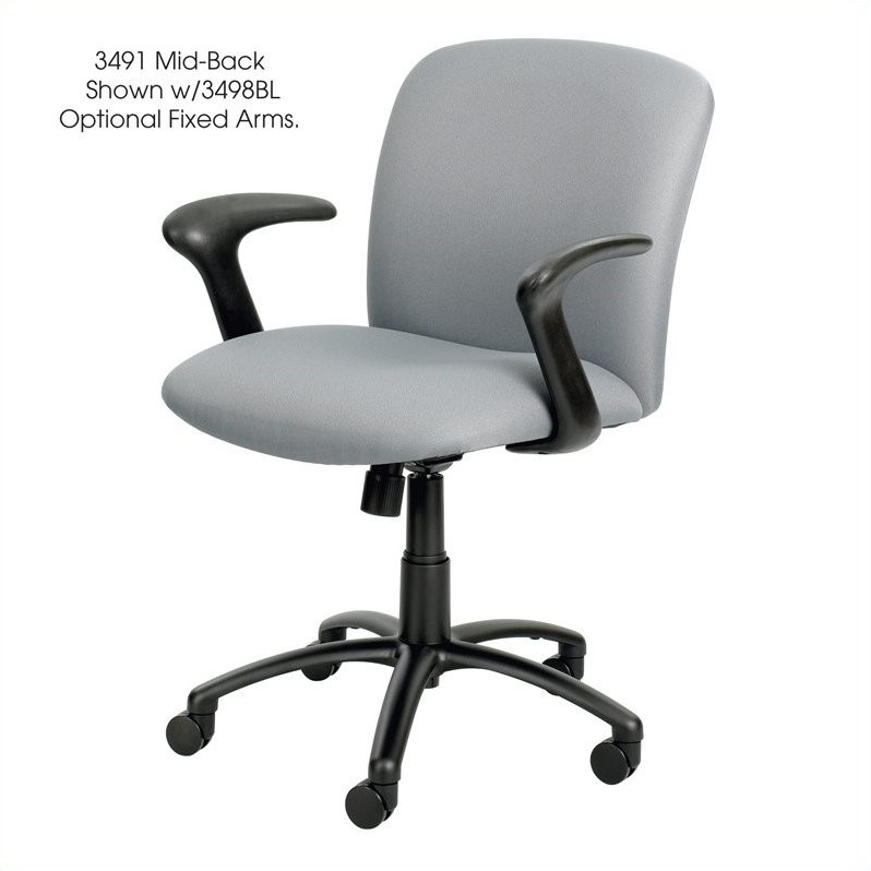 Safco Uber Big and Tall Mid Back Task Office Chair in Gray