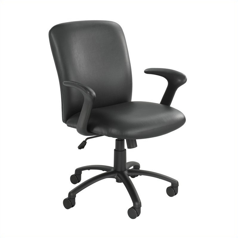Safco Uber Big and Tall High Back Task Office Chair in Black Vinyl
