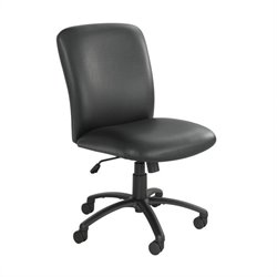 Safco Uber Big and Tall High Back Task Chair in Black Vinyl