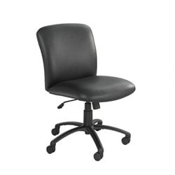 Safco Uber Big and Tall Mid Back Armless Task Chair in Black Vinyl
