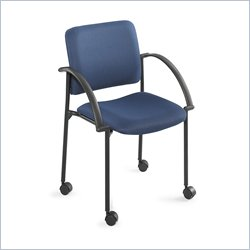 Safco Moto Mobile Stackable Chair in Blue (Set of 2)