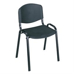 Safco Stacking Chairs in Black (Set of 4)