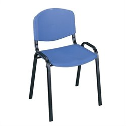 Safco Stacking Chair in Blue (Set of 4)