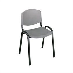 Safco Stack Stacking Chair in Charcoal (Set of 4)