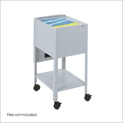Safco Economy 1 Drawer Mobile Letter Metal Tub File in Gray