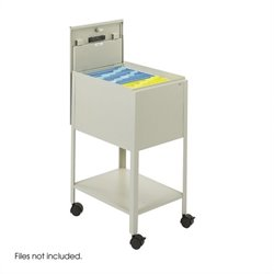 Safco Standard Mobile Letter Size Tub File with Lock in Putty