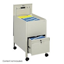 Safco Locking Mobile Letter Size Metal Tub File with Drawer in Putty