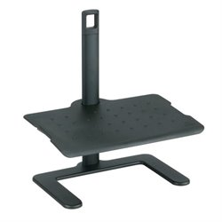 Safco Shift Height Adjustable Foot Rest in Black