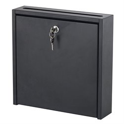 Safco Small Wall-Mounted Mailbox with Lock