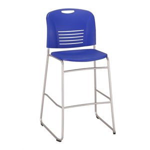 Vy Sled Base Bar Stool in Blue