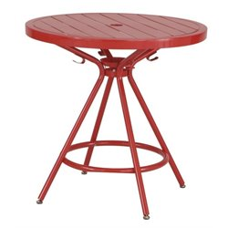 CoGo Steel Patio Bistro Table in Red