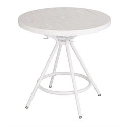 CoGo Steel Patio Bistro Table in White