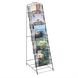 Safco Floor Magazine Rack in Black