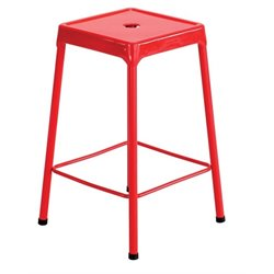 Steel Stool in Red