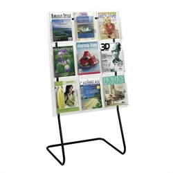Safco Magazine Display Floor Stand