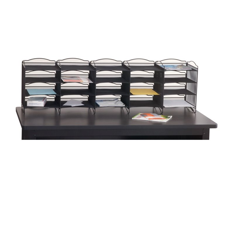Safco S Onyx Mail Sorter In Black